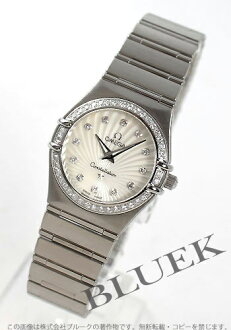 Omega Constellation 111.15.26.60.55.001 DIA bezel white shell ladies