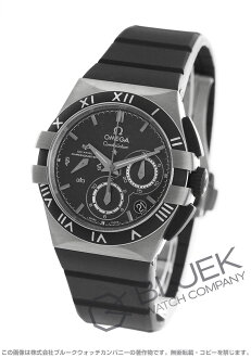 Omega Constellation double eagle titanium chronograph rubber carbon black Womens 121.92.35.50.01.001