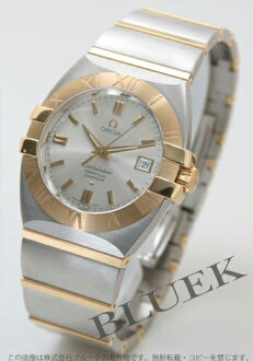 Omega Constellation double eagle perpetual calendar 1213.30 YG Combi silver large