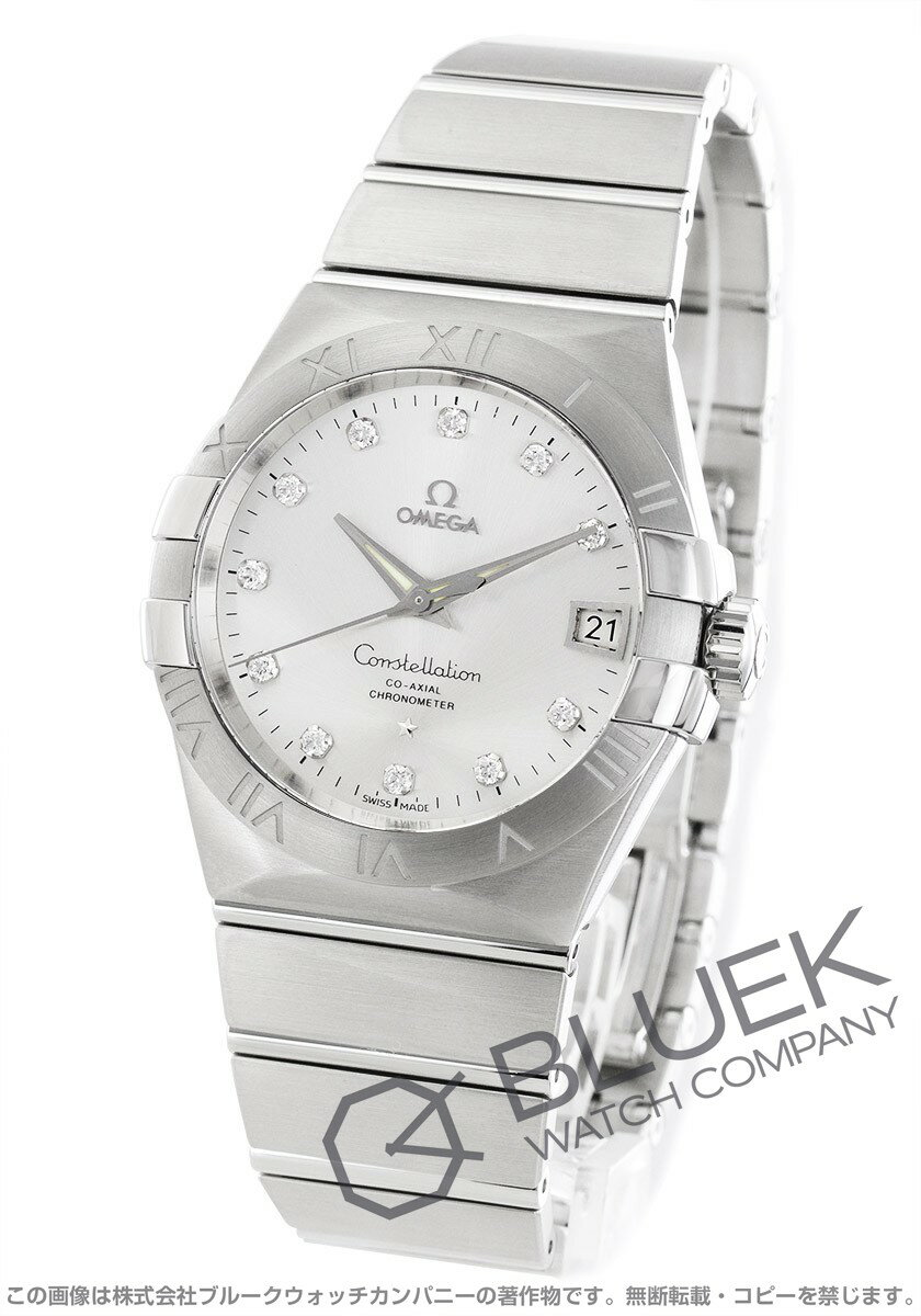 Rakuten Japan sale ★ Omega Constellation diamond index chronometer automatic silver mens 123.10.38.21.52.001