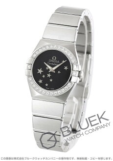 Omega Constellation brushed DIA bezel black ladies mini 123.15.24.60.01.001