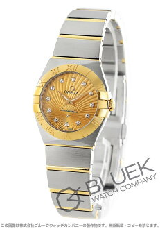 Rakuten Japan sale ★ Omega Constellation brushed YG Combi diamond index gold ladies mini 123.20.24.60.58.001
