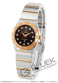 オメガコンステレーションポリッシュ RG combination diamond index brown Lady's 123.20.24.60.63.002