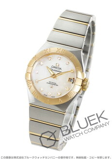 Omega Constellation brushed diamond chronometer RG duo white shell Womens 123.20.27.20.55.003