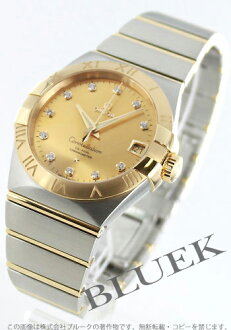 Omega Constellation YG Combi diamond index coaxial gold mens 123.20.38.21.58.001