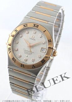 95 1304.35 オメガコンステレーション RG combination diamond index chronometer automatic silver men