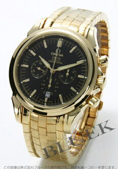 4141.50 オメガデビルコーアクシャル YG pure gold chronometer chronograph black men