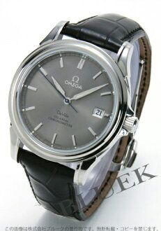 Omega-Devil coaxial 4831.41.31 chronometer alligator leather black / grey mens