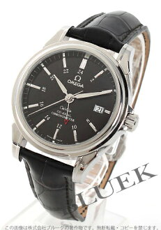 Omega-Devil coaxial 4833.51.31 chronometer GMT leather black mens