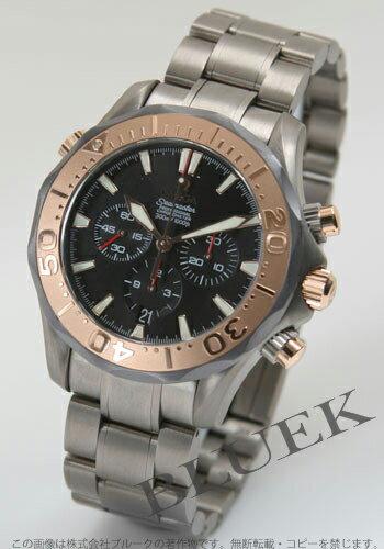 Omega Seamaster 300 m プロダイバーズ 2294.52 chronograph RG bezel titanium black mens