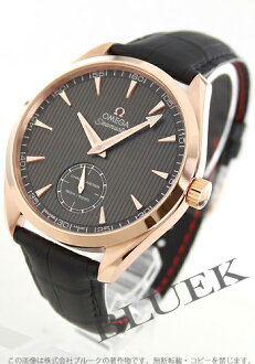 Omega Seamaster Aqua Terra XXL OG pure gold chronometer hand wrapped leather black / grey mens 231.53.49.10.06.001