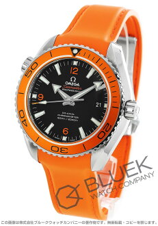 Omega Seamaster Planet Ocean big size coaxial 600 m waterproof rubber orange / black men's 232.32.46.21.01.001