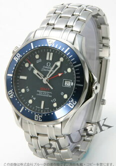 Omega Seamaster 2535.80 co-axial chronometer GMT 300 m blue mens