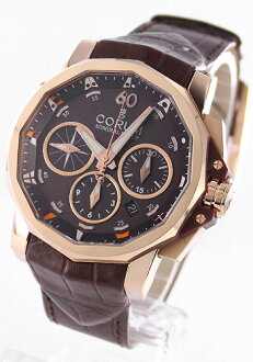44 Colomb Admiral's Cup challenge RG pure gold automatic leather brown men 753.692.55/0002 AG12