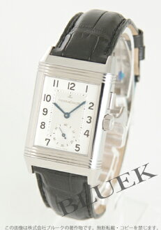 Jaeger-LeCoultre Reverso DIO hand winding GMT alligator leather silver boys character Panel are switchable (black) Q2718410