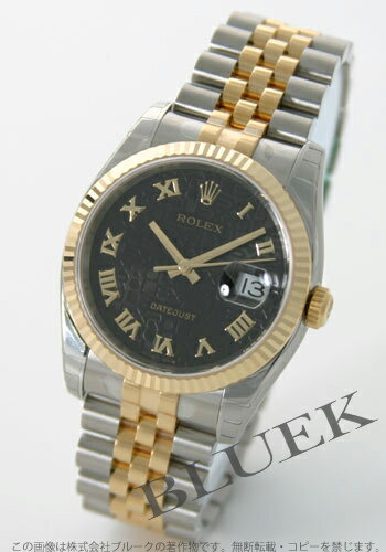 Rolex Ref.116233 Datejust YG Combi Black Roman men