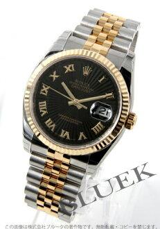 Rolex Ref.116233 Datejust YG Combi Black Roman men