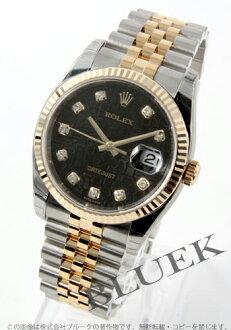 Rolex Ref.116233J Datejust diamond index YG Combi black mens