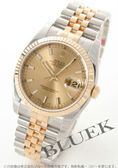 Rolex Ref.116233 date just YG combination gold men