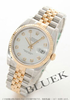 Rolex Ref.116233G Datejust diamond index YG duo white mens