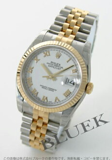 Men's Rolex Ref.116233 Datejust YG duo White Roman