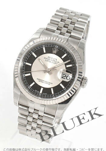 Rolex Ref.116234 Datejust WG bezel 5 breath black & silver men's