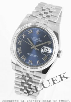 Rolex Ref.116234 Datejust WG bezel blue Roman men