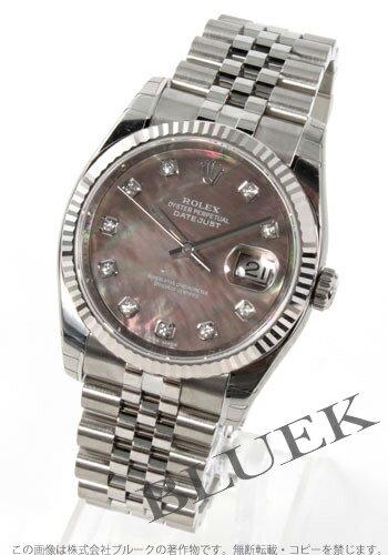 Rolex Ref.116234NG date just diamond index WG bezel gray shell men