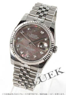 Rolex Ref.116234NG date just diamond index WG bezel gray shell men