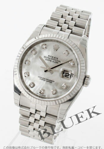 Five Rolex Ref.116234NG date just WG bezel breath diamond index white shell men