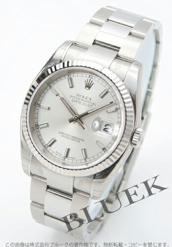 Rakuten Japan sale ★ Rolex Ref.116234 Datejust WG bezel triple breath silver mens