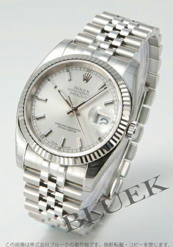 Rolex Ref.116234 Datejust WG bezel 5-silver men's breath