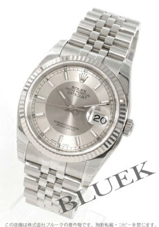 Rolex Ref.116234 Datejust WG bezel 5 breath silver & grey mens