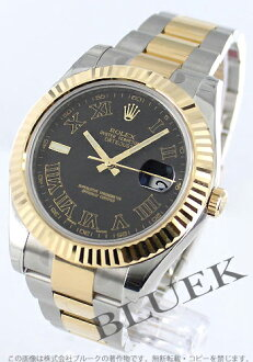 Rakuten Japan sale ★ Rolex Ref.116333 Datejust YG Combi Black Roman men