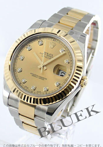 Rolex Ref.116333 Datejust YG Combi diamond index gold mens