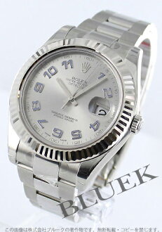 Rolex Ref.116334 date just WG bezel silver-blue Arabia men