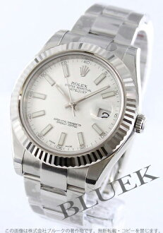 Men's Rolex Ref.116334 Datejust WG bezel white bar