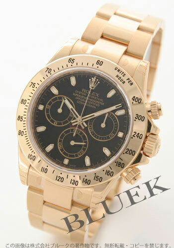 Men's pure gold black and YG Cosmograph Daytona Rolex Ref.116528