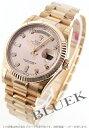 ロレックス Ref.118235G オイスターパーペチュアル デイデイト PG金無垢 ダイヤインデックス ピンク メンズ
