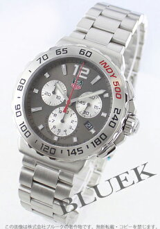 1 タグホイヤーフォーミュラ chronograph Indy 500 anthrasite gray & silver men CAU1113.BA0858