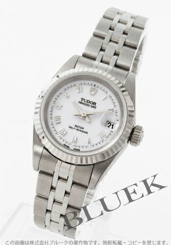 Tudor Princess date 92414 WG bezel White Roman ladies