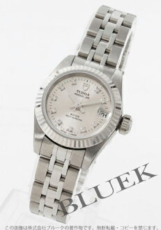 Tudor Princess date 92514 diamond index WG bezel silver ladies