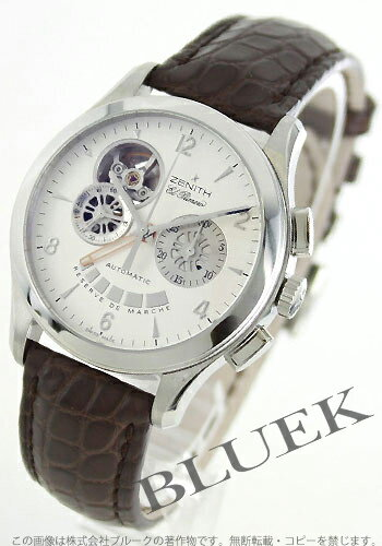 Zenith グランドクロノ master open El Primero alligator Leather Brown / silver mens 03.0510.4021/01.C504