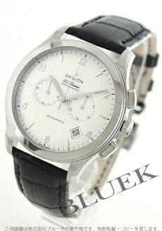 Zenith Grand class elite chronometer alligator leather Black / Silver mens 03.0520.4002/01.C492