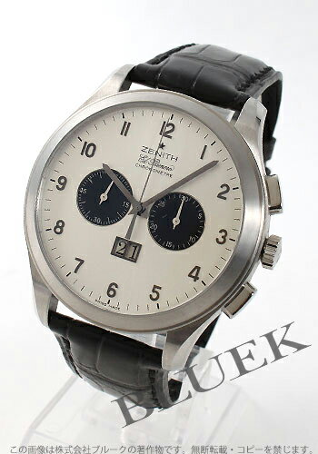 Zenith ground class ground date Kurono master L primero silver & black men 03.0520.4010/01.C580