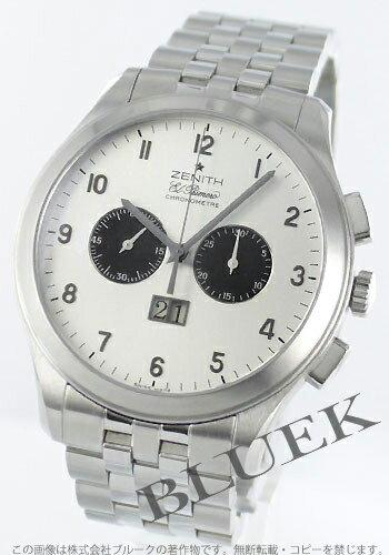 Zenith ground class ground date L primero chronometer silver & black men 03.0520.4010/01.M520