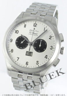 Zenith ground class ground date L primero chronometer silver & black men 03.0520.4010/01.M520