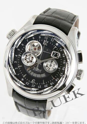Zenith class traveller Murcia city El Primero automatic chronograph leather black mens 03.0520.4037/22.C660