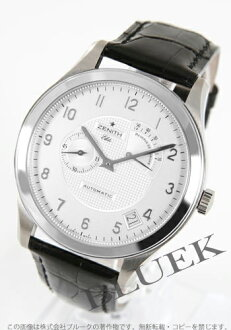 Zenith class elite automatic power reservation alligator leather black / silver men 03.0520.6850/01.C492