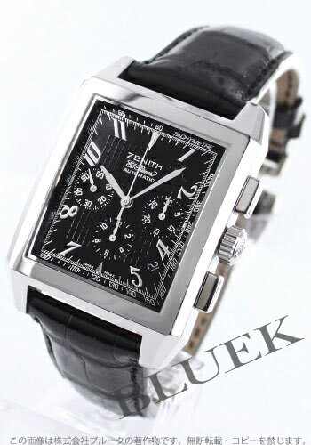 Zenith Grand port Royale El Primero chronograph leather black mens 03.0550.400/21.C492